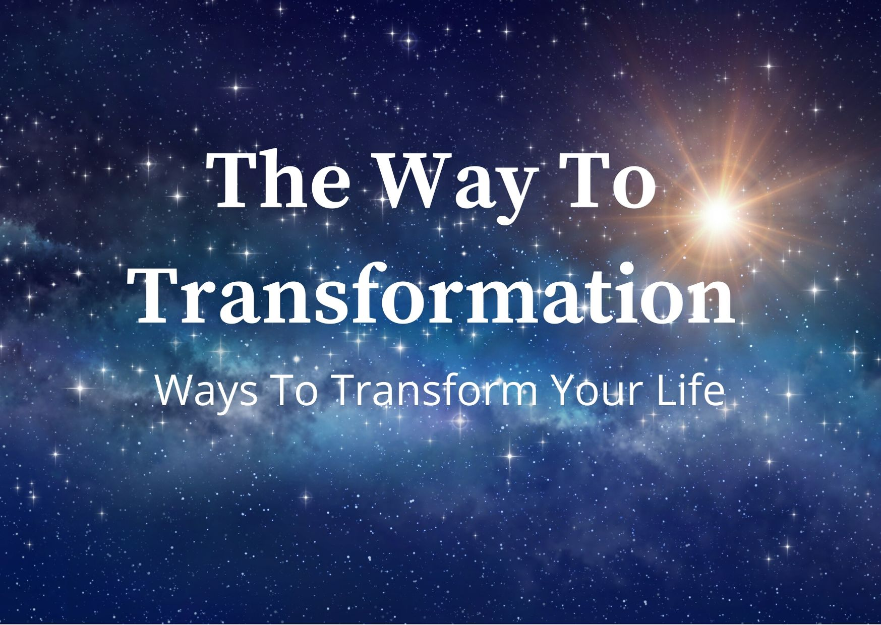The 1st Powerful Step to Transformation