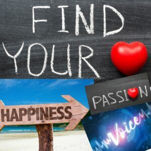 Finf your happiness voice and passion