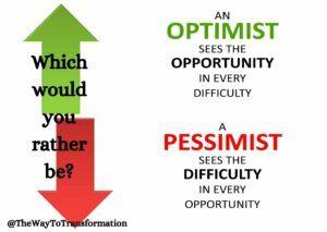Optimist versus pessimist