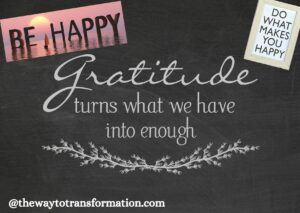 Gratitude makes you happier.